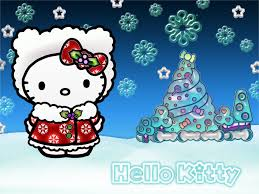 kitty christmas wallpaper hd widescreen kitty