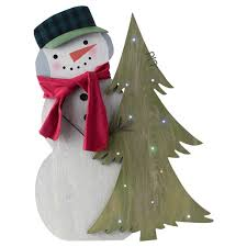 Outdoor Lighted Snowman Decorations by Light Up Indoor Outdoor Standing Snowman Decoration Decorative