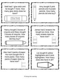 addition and subtraction make your own story problems with