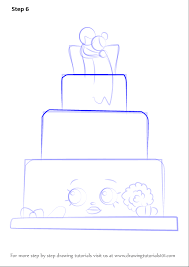 step by step how to draw wendy wedding cake from shopkins