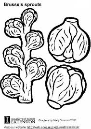 Coloring Page Brussels Sprouts Img 5775 Sprout Coloring Pages