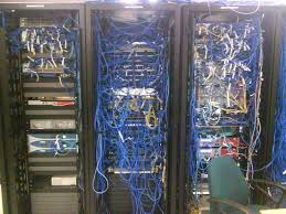 server room at a board i did some of the electrical