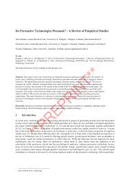 do persuasive technologies persuade a review of empirical