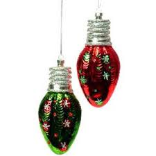 raz light bulb ornament in and green glass polyvore