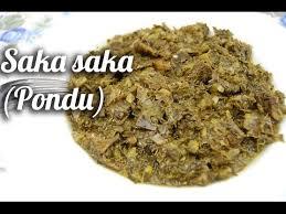 cuisine congolaise brazza saka saka pondu à la morue fumée congo toi moi cuisine