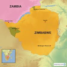 Zimbabwe Map Zimbabwe Country Holidays Hongkong