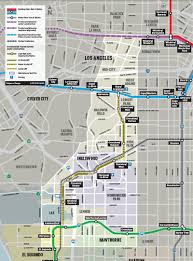 Metro Expo Line Map by First Tbm Launch On La Metro Extensions