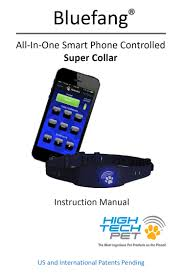 bluefang smart phone controlled remote dog training collar