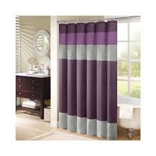 Yellow And Purple Curtains Purple Grey Striped Fabric Shower Curtains On Stainless Hook