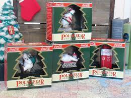 vintage coca cola polar bear collection christmas ornaments coke