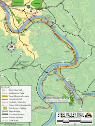 Ohio Valley Map by Great Allegheny Passage U2013 Pittsburgh Southside Pa To Mckeesport Pa