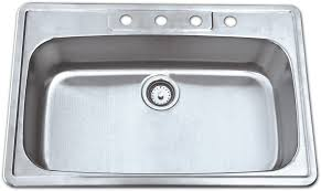 AS  X  X  G Single Bowl Topmount Economy Stainless - Kitchen sink quality