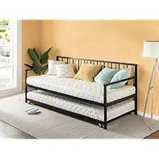 amazon com dhp tokyo daybed and trundle with metal frame twin