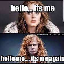 Adele Meme - megadeth meme metal amino