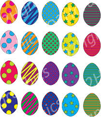 easter eggs clipart decorated eggs vector clipart digital