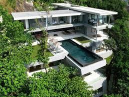 modern house plans for hillside