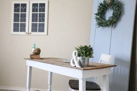 Diy Desk From Door by Diy 15 Office Makeover U2013 Rumfield Homestead