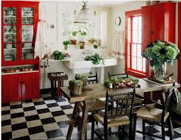 Red And White Kitchen Ideas Modern Beautiful Design Of The Interior Decorating Red Green That