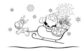 coloring pages santa claus children christmas coloring
