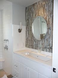 Double Sink Vanity Mirrors Herringbone Subway Tile Bathroom Traditional With 3x6 Bathroom