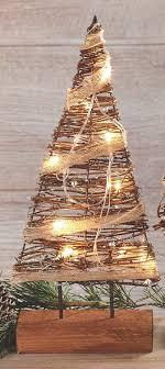rustic rattan lighted tree prelit tabletop tree