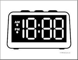 clip art clock digital blank face coloring abcteach