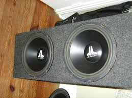 15 inch home theater subwoofer two 12 inch jl subs in a box