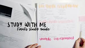 study with me finals study guide youtube