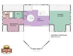 cascade handcrafted log homes 2491 cloudcroft 2nd floor plan