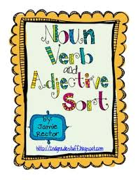 noun verb and adjective sort freebie by jamie rector tpt