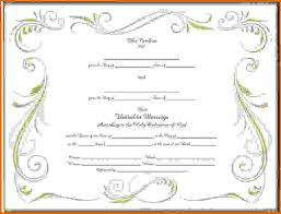 blank marriage certificate templatereference letters words