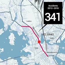 Finnair Route Map by Nine Out Of Ten Road Accident Hotspots In Helsinki Yle Uutiset