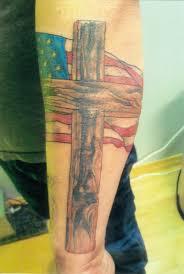 cross tatoo images wood cross over american flag tattoo com