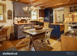 primitive colonial home decor kitchen primitive colonial style reproduction home stock photo