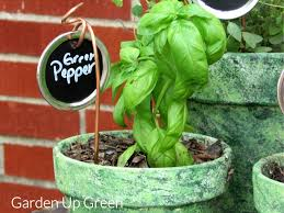 garden markers copper canning lid garden markers garden up green
