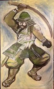 kristen grunewald a collector of art asked me to paint a samurai