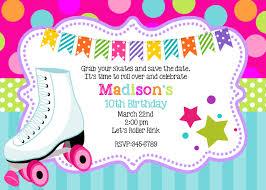 peace love skating birthday party invitations printable or digital