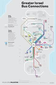 Map Of Israel And Palestine Unofficial Maps Bus Routes Of Greater Transit Maps