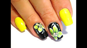 yellow flowers new nail art 2017 the best nail art designs june