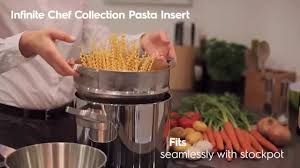 insert cuisine infinite chef collection pasta insert