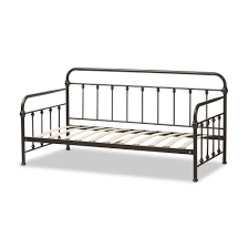 baxton studio elsie antique dark bronze metal daybed interior