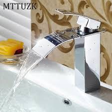 Waterfall Faucet Bathroom Aliexpress Com Buy Mttuzk Brass Brushed Nickel Chrome Orb