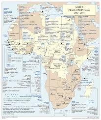 Africa Continent Map by This Map Represents All Un Peace Operations Based Within Africa