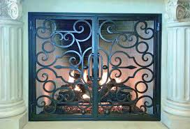 fireplace screen with glass doors quality fireplace door for protection and decor enhancement