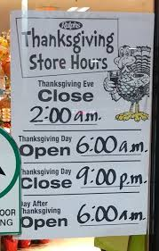 thanksgiving store hours at the magnolia and coldwater