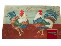 rooster kitchen rug add color to your kitchen with this kitchen