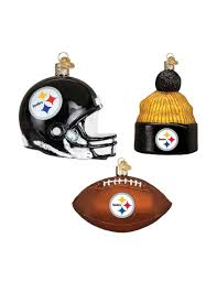 pittsburgh steelers 3 pc ornament set stage stores