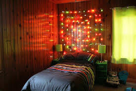 Hanging Christmas Lights by Christmas Lights In Bedroom Safe Stained Wood Nighstand Dark Brown