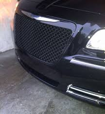bentley blacked out 2011 2014 chrysler 300 black bentley mesh grille
