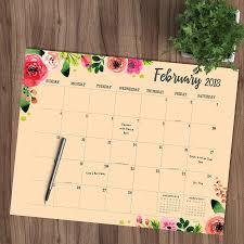 Kids Desk Blotter by 2018 Floral Monthly Desk Blotter Tf Publishing 9781683752554